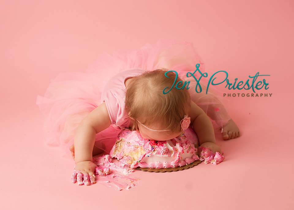 baby eating cake first birthday pictures michigan photos Ann Arbor ...