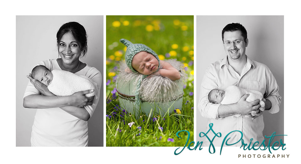 newborn outside photography flowers canton ann arbor MI photographer baby