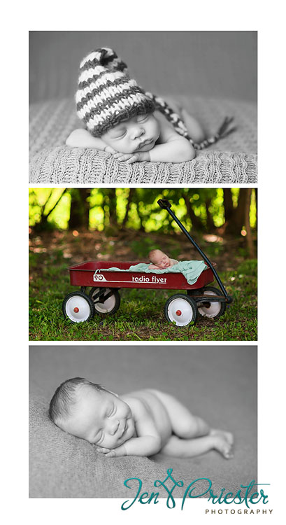 canton MI newborn photographer radioflyer wagon