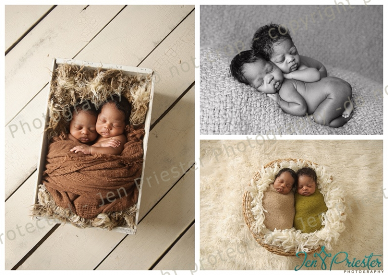 Metro detroit michigan newborn twin photographer